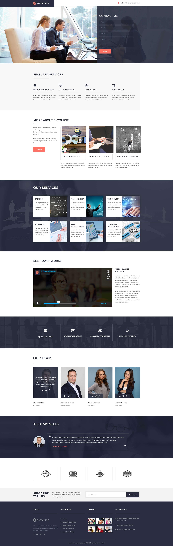 e-course education landing page