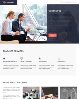 Responsive E-course Education HTML5 Landing Page Design Template To Get The Best Conversion Rate