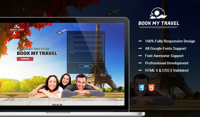 High Leads Travel Business Landing Page Template