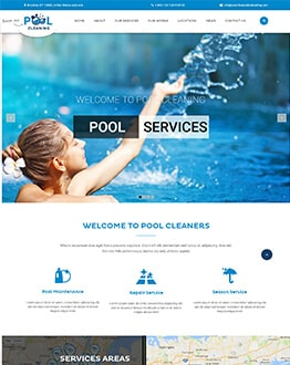Pool Cleaning, Construction, Repair and Maintenance Services WordPress Theme