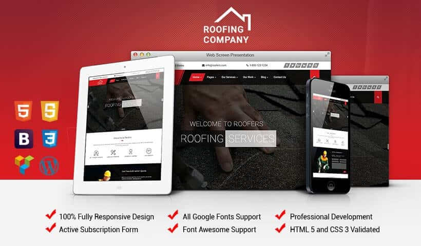 Roofing U0026 Construction Companies WordPress Theme