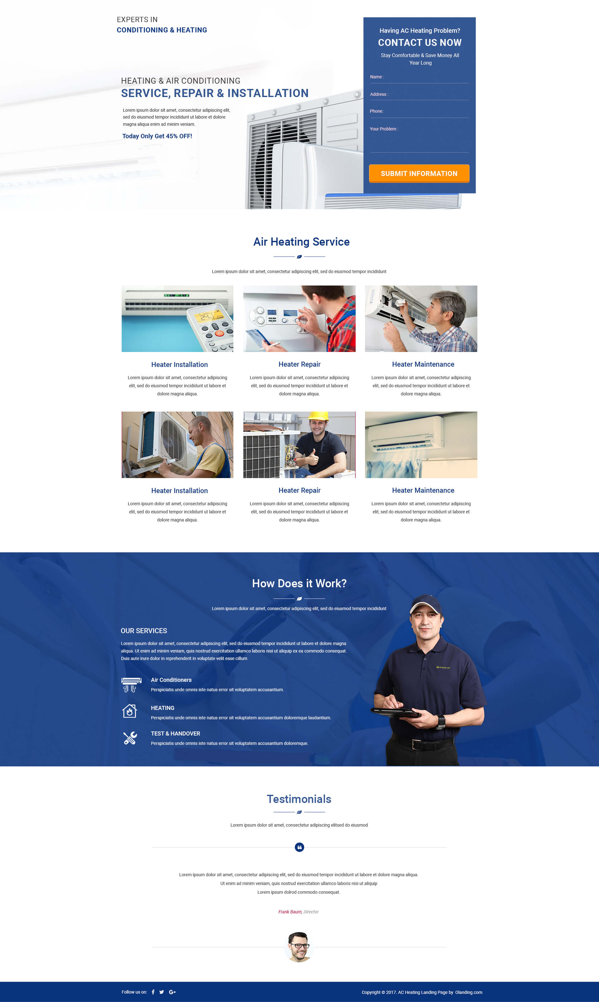 AC & Heating HTML template