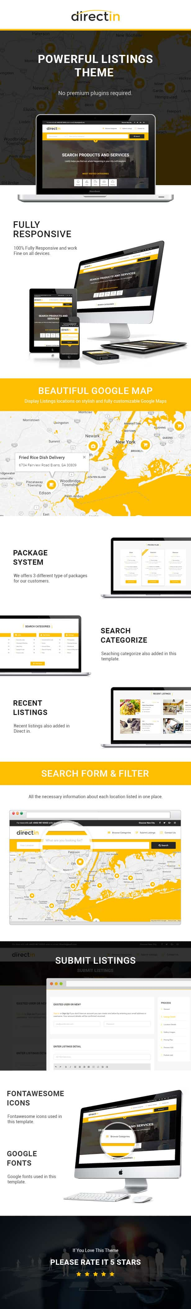 Directin classified ads listing html template for directory directin is a classified ads template for directory listing and yellow pages website coded in validated w3c html5 using responsive bootstrap maxwellsz