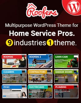 Roofers – Multipurpose WordPress Theme for Construction and Contractor Companies