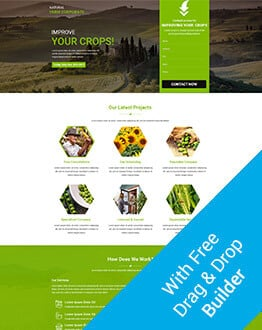 Farming HTML Landing Page Template