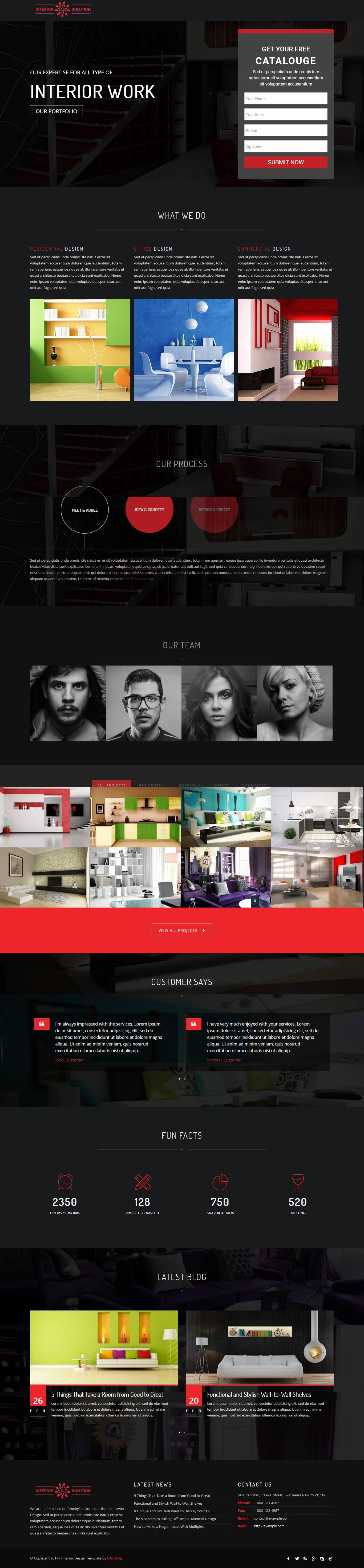 This Template Comes With Necessary Features For Your Online Presence Like  Residential Interior Solution, Hospital Interior Solution, Office Interior  ...