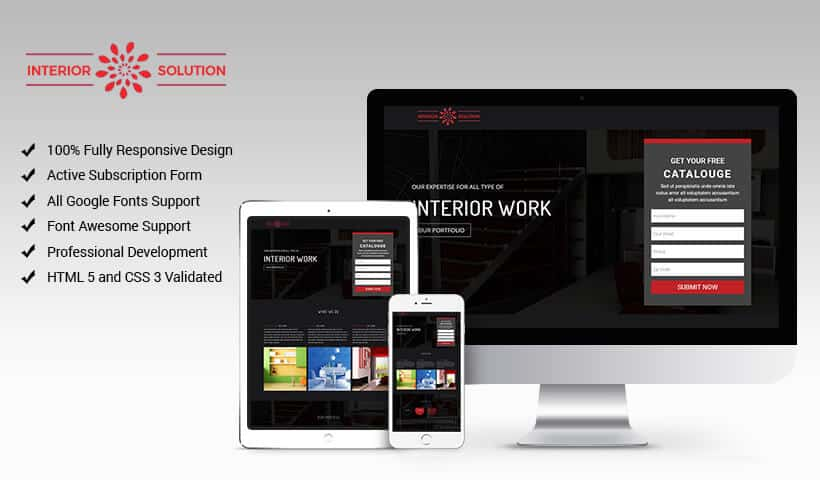 Interior Solution HTML Fully Responsive Template for Architecture, Construction, and Interior Design