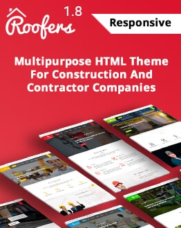 High Lead Generating Roofers HTML Landing Page template