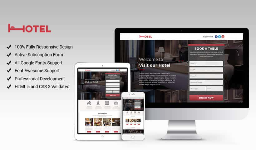 Hotel and Restaurant with Better Conversion Rate Templates