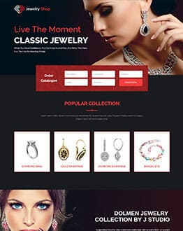 Jewellery Stores Responsive HTML5 Landing Page Template