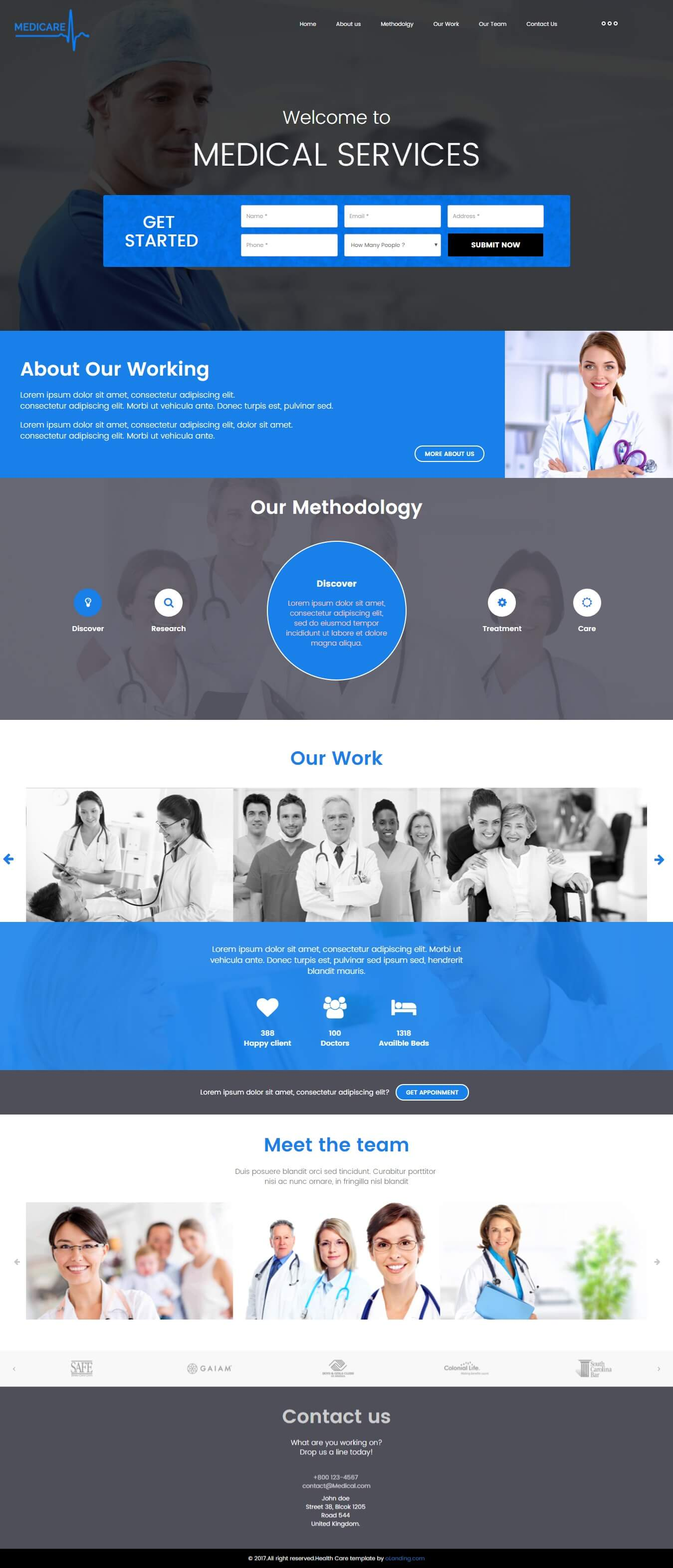 Medical Landing Page Design Template For Help To Promote Your - Medical landing page template