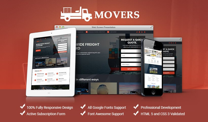 Packing and Moving Companies Landing Page Template