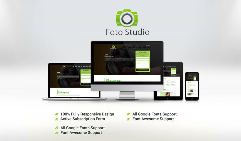 Photography Landing Page Design Template to Promote Your Business