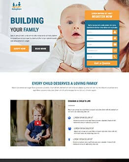 Adoption and Orphan care Landing Page Template