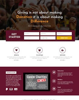 Charity and Donation html Landing Page Design Template