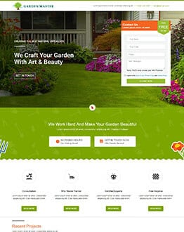 Plant Nursery Website Design Olanding