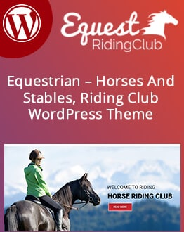 Responsive Horses and Stables, Riding Club WordPress Theme