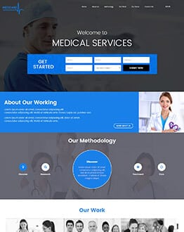 Medical Business Landing Page Design Template