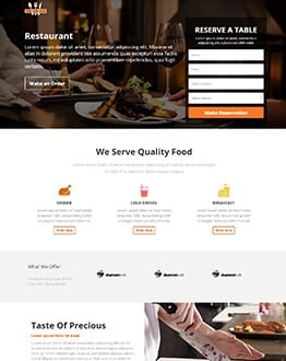 Restaurant, Hotel or Motel HTML Website Templates