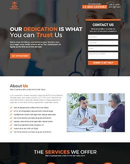 SEO Friendly Responsive Medical Landing Page Template OLanding - Seo landing page template