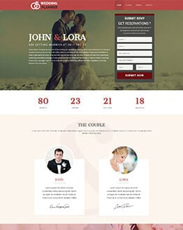 Wedding Landing Page Design Template