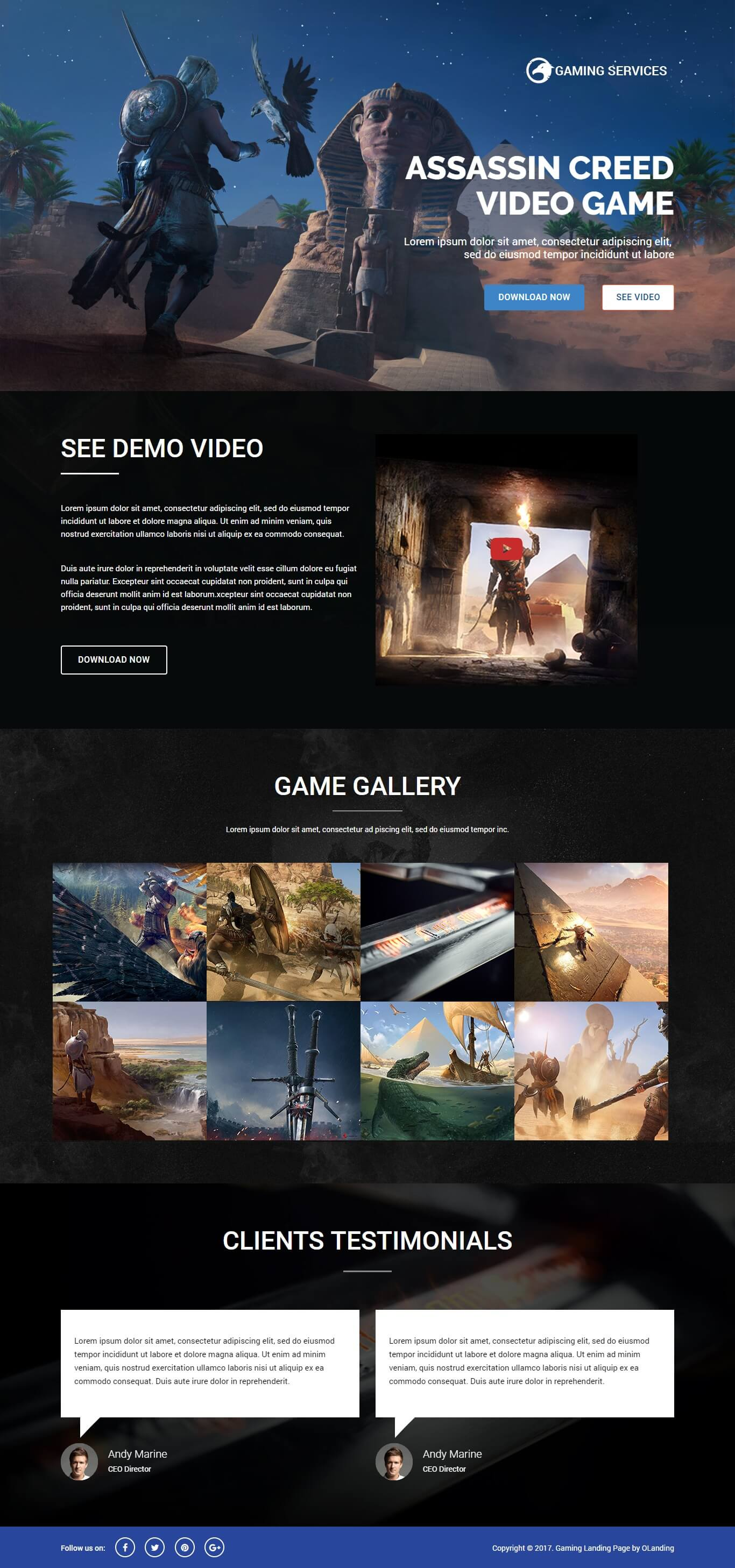 gaming landing page template retro gaming web template with page builder