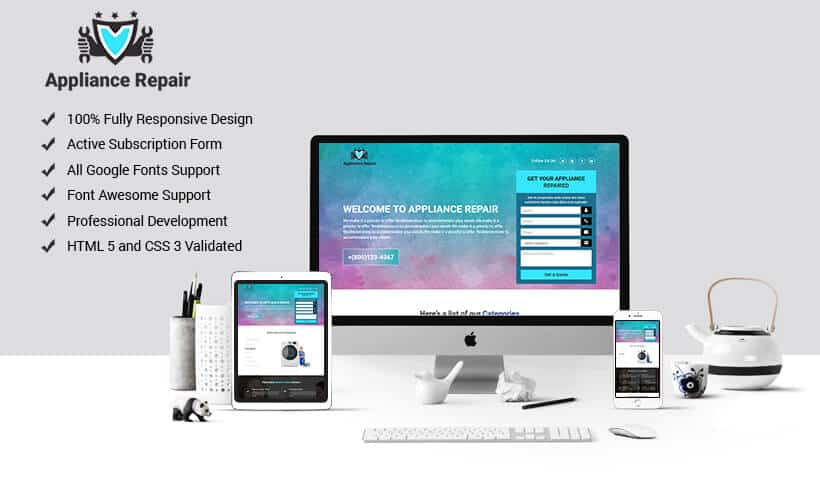 Appliances Repair HTML Template for Handyman Services