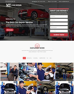 Fully Responsive Auto Mechanic & Car Repair Landing Page