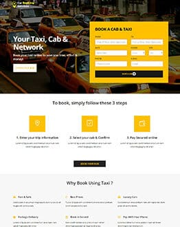 Car Booking Services Fully Responsive Html Landing Page - oLanding