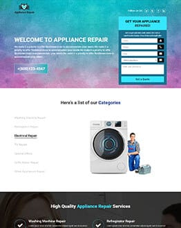 Handyman Services & Appliances Repair HTML Template