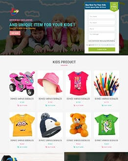 Kids & Baby Store HTML Landing Page Template