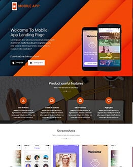 Mobile Apps Responsive Landing Page HTML Template