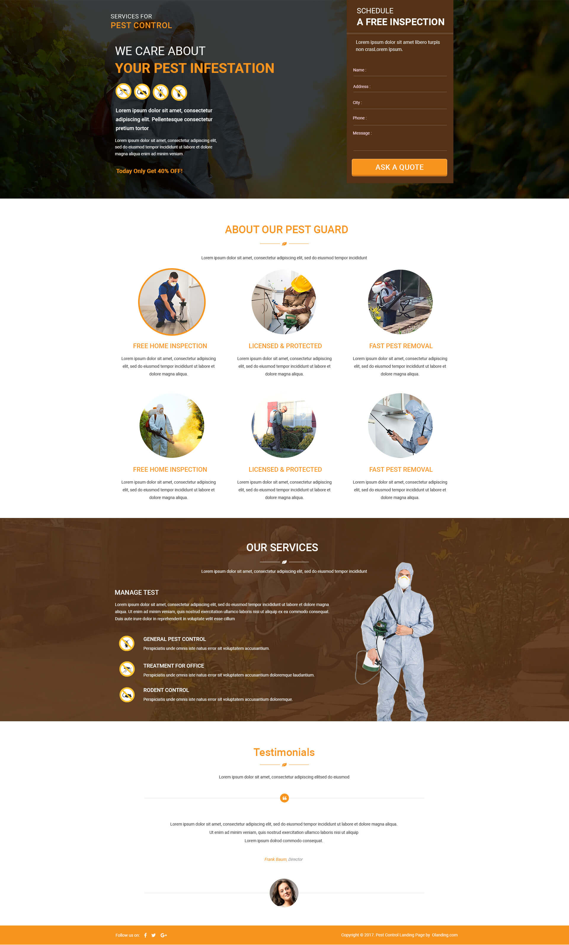 multi services provider html pest control landing page. Black Bedroom Furniture Sets. Home Design Ideas
