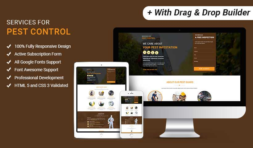 multi services provider html pest control landing page template with
