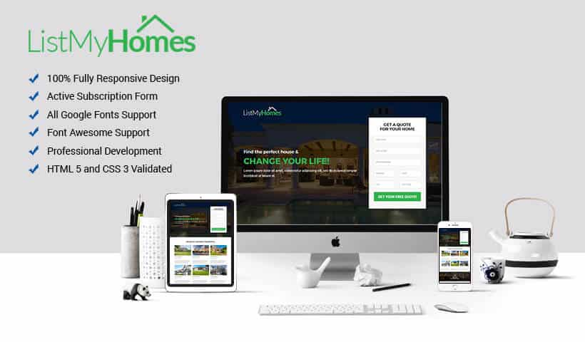 List My Homes Responsive HTML Template for Real Estate Industry
