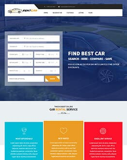 Rent Car HTML Responsive Landing Page Template