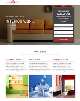 Fully Responsive Best Interior Design Landing Page Website Template And Furniture  Web Template
