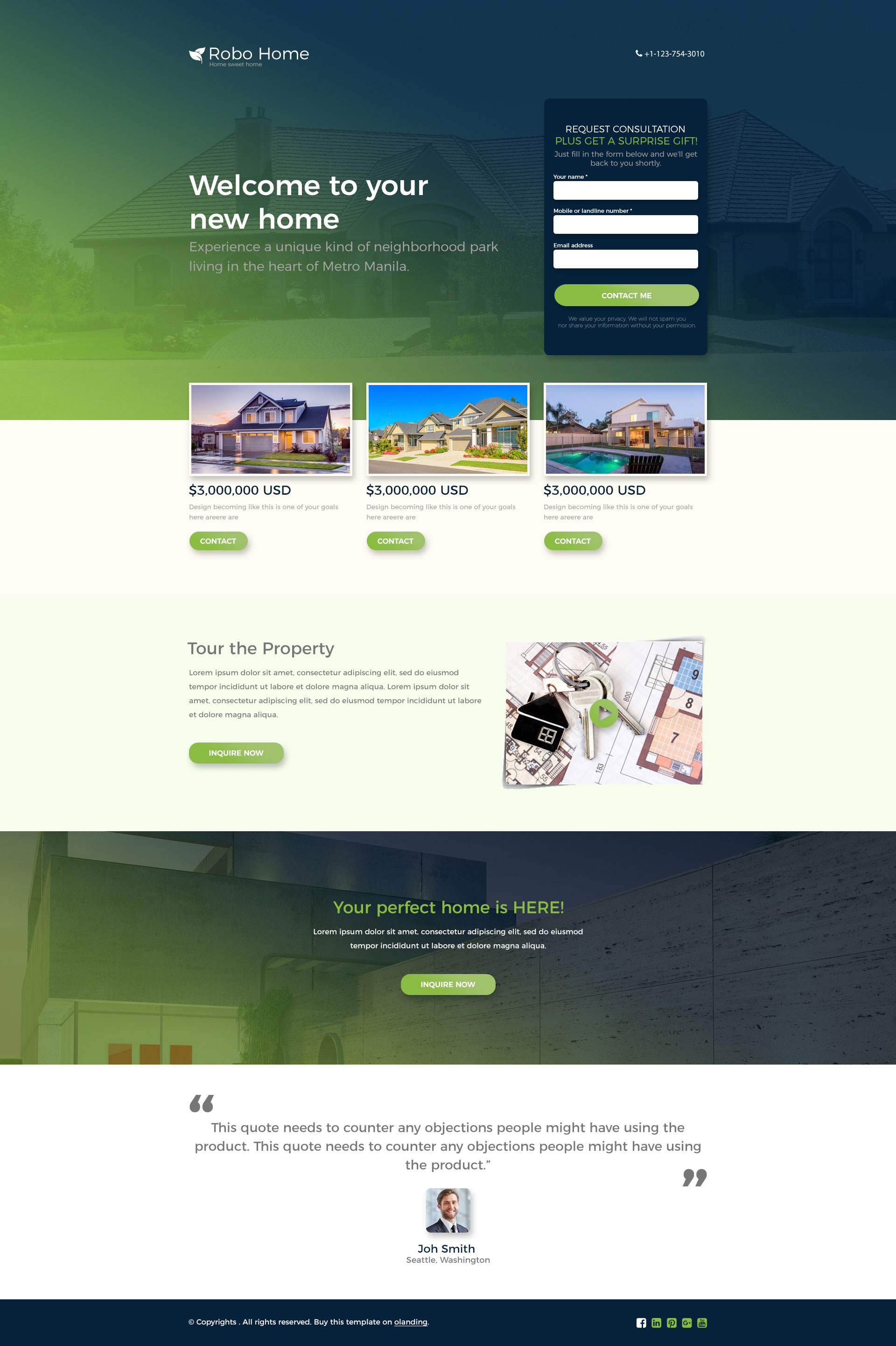 best real estate landing page template