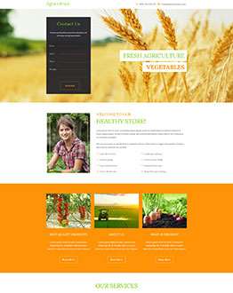 farming landing page template