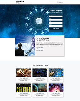 best astrology landing page template