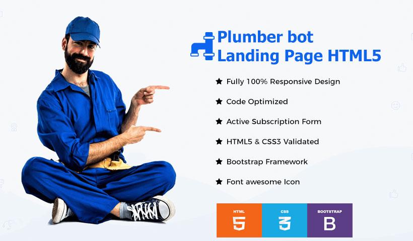 plumbing landing page template