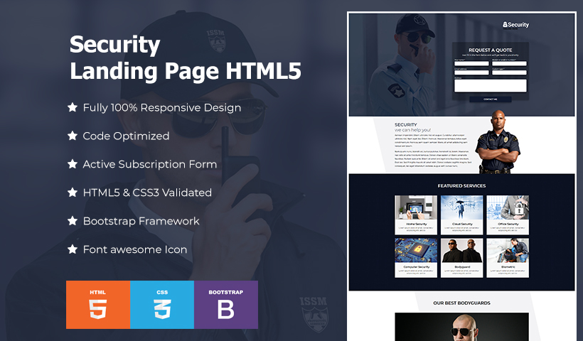 Best security landing page