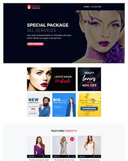 Best beauty landing page template