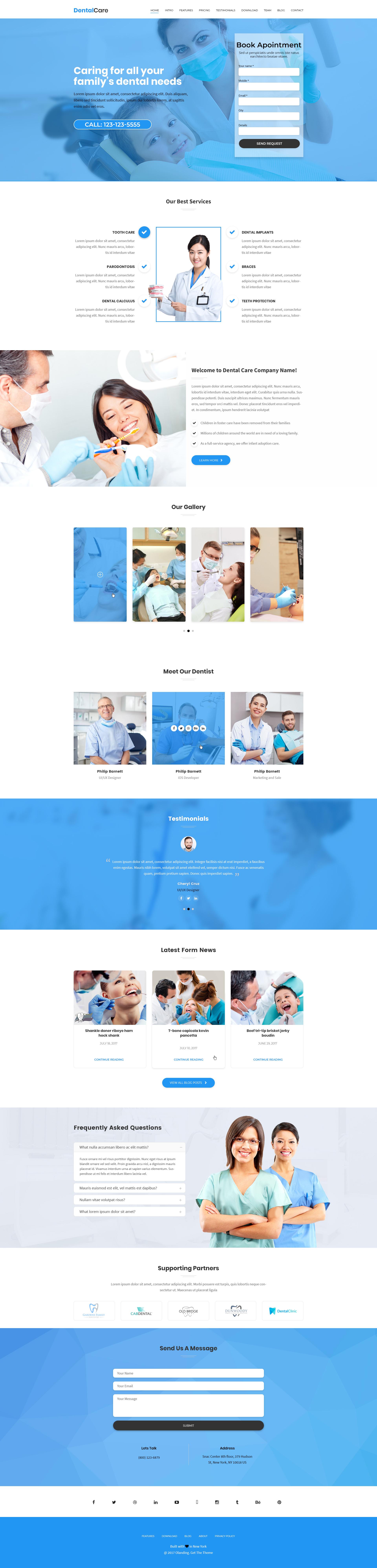 dental Care Landing Page