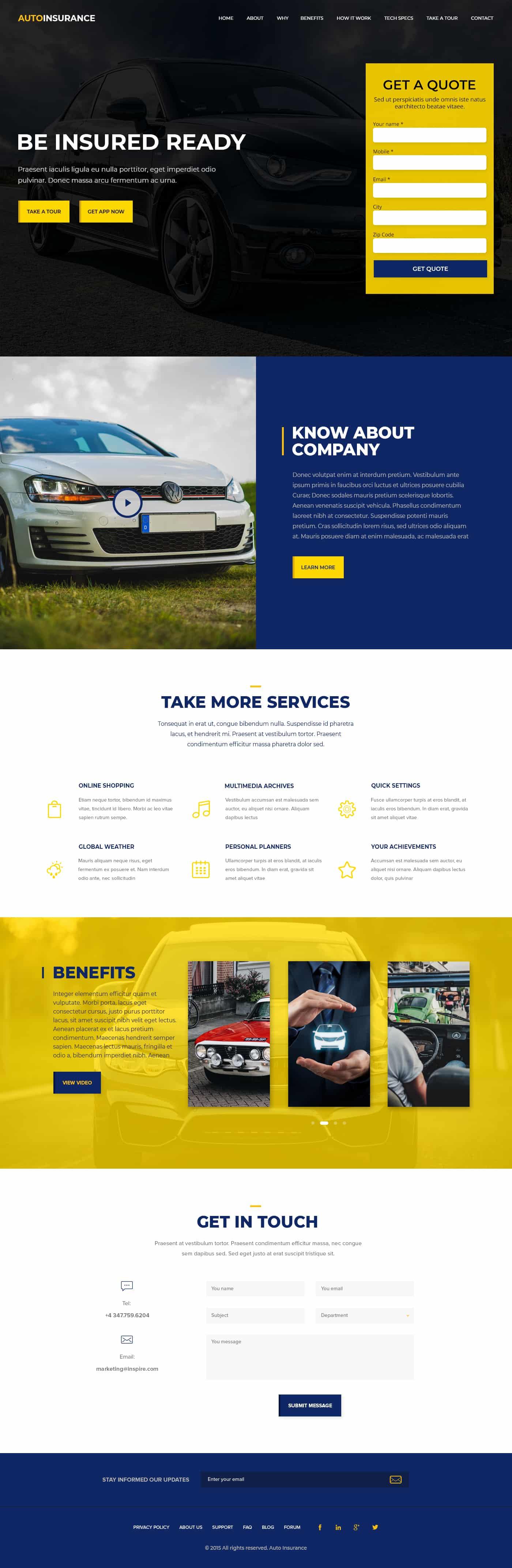 Auto Insurance Template