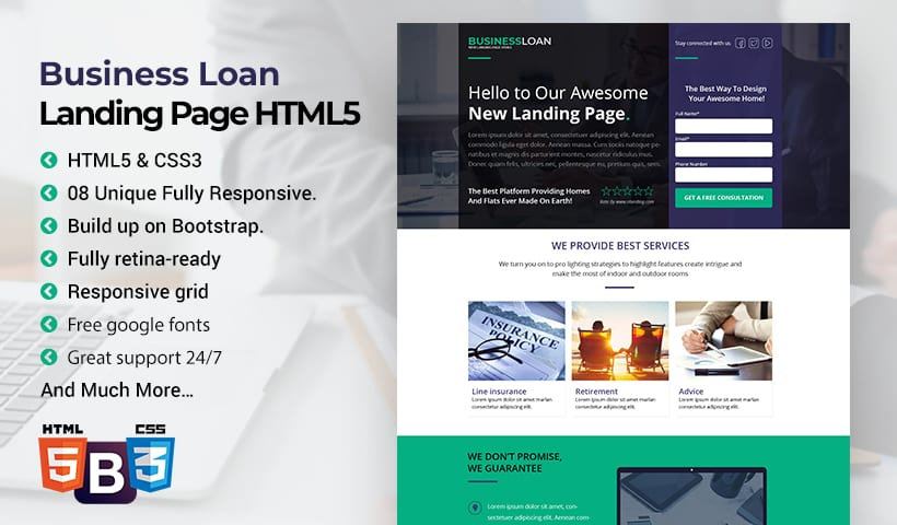 Business Loan Web Page
