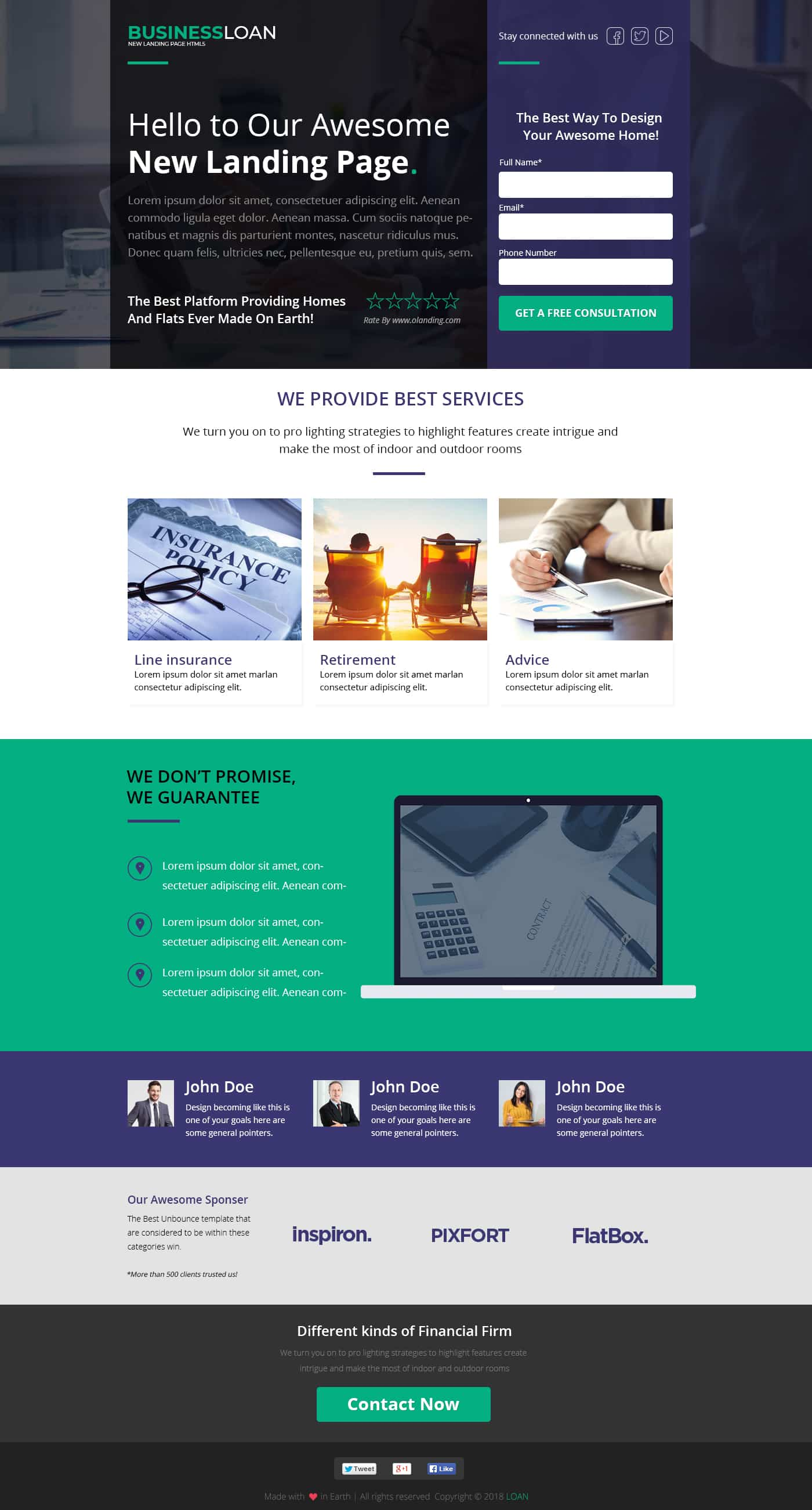 Business Loan Landing Page