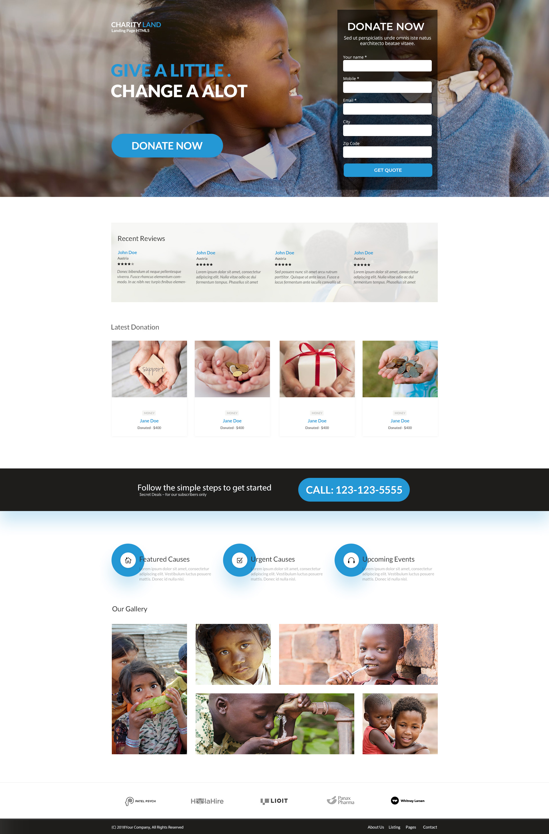 Charity Landing Page