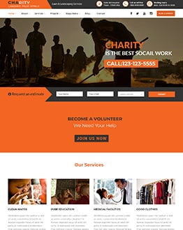 Charity-V1 Landing Page