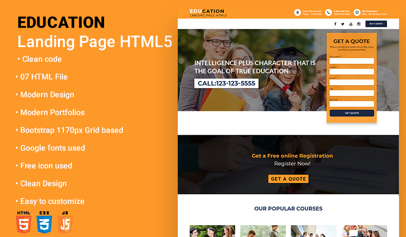 Education Landing Page Temp